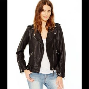 Lucky Brand Moto Leather Jacket